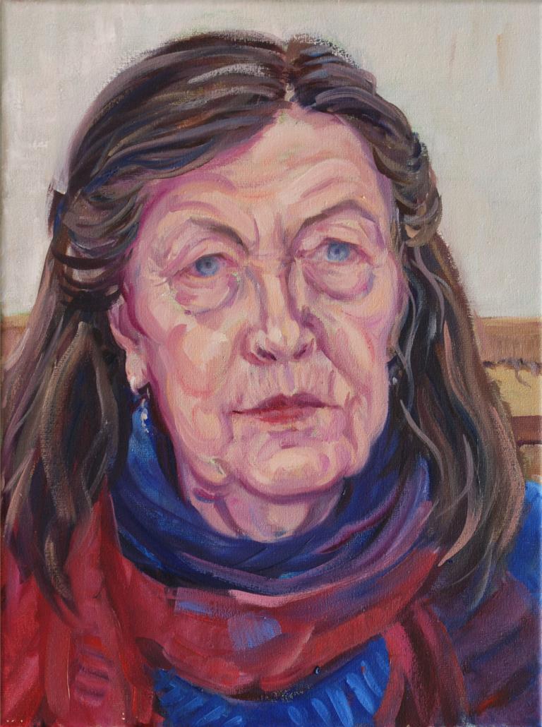 2019, Marian, olieverf, 40 x 30 cm
